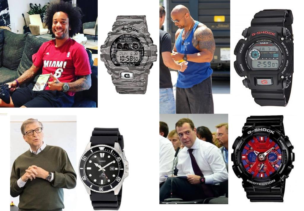 Las celebridades que llevan relojes Casio
