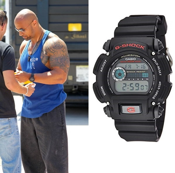 Relojes El actor Dwayne Johnson