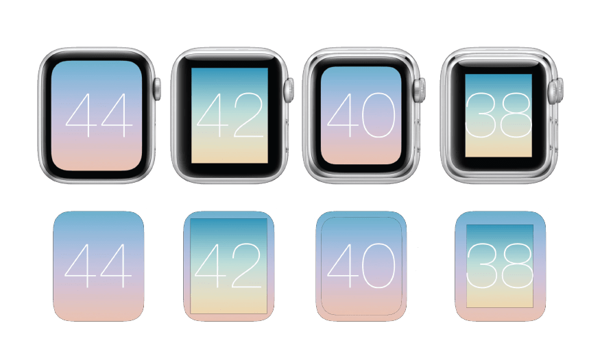 La pantalla y los diales apple iwatch  38mm 40mm 42mm 44mm