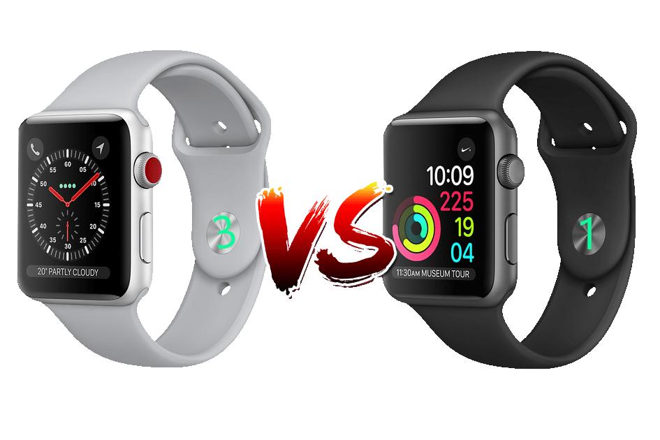 Iwatch series 1 vs series 3 visión de conjunto