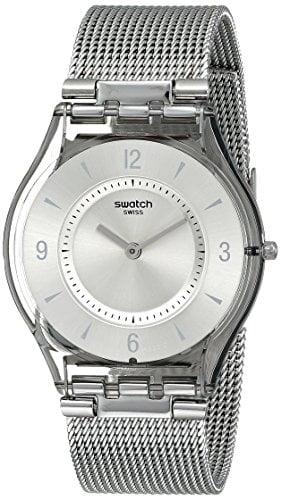 Mejores relojes Swatch SFM118M Analógico de Cuarzo para Mujer con Correa de Acero Inoxidable