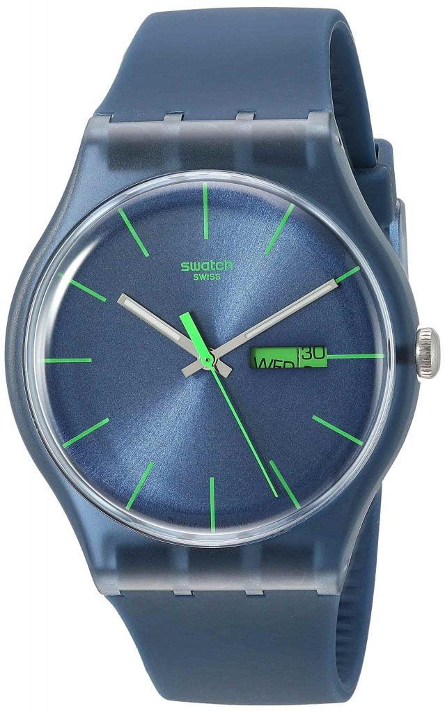 Mejores relojes SUON700 de Mujer de Cuarzo, Correa de Caucho Color Azul Claro