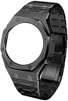 ga 2100 royal oak correa de metal mod  negro / dorado / plata reloj